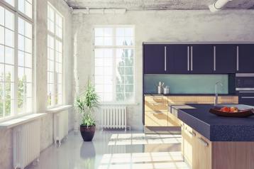 תמי4 Bubble Bar לעיצוב ארונות מטבח בשני צבעים