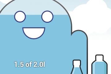 אפליקציית CarboDroid מעודדת שתיית מי תמי4 Bubble Bar